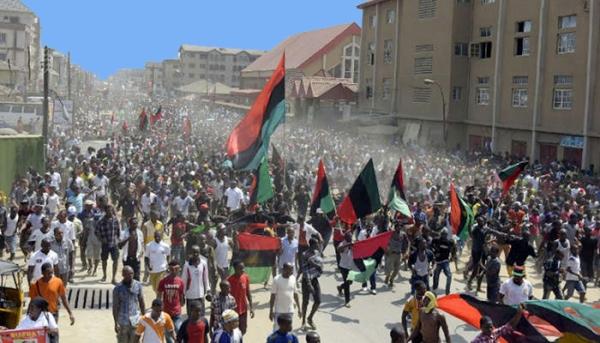 Image result for Biafran protesters in enugu