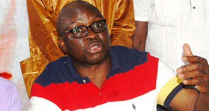 Ayo Fayose on Tshirt  talking