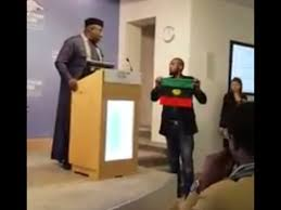 Boy with Biafra Flag confronts Okorocha in Chattam house london
