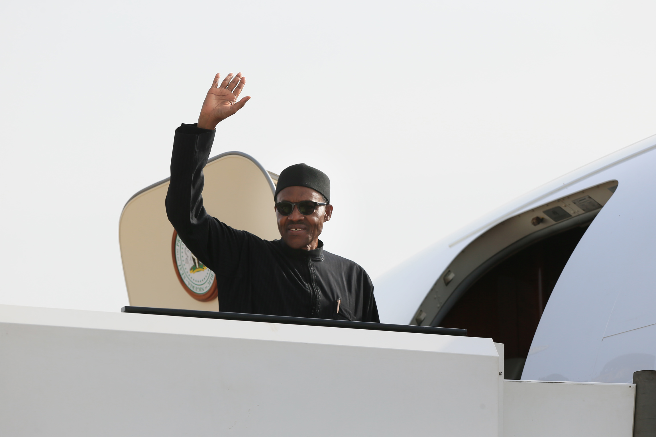 Buhari-in-plane
