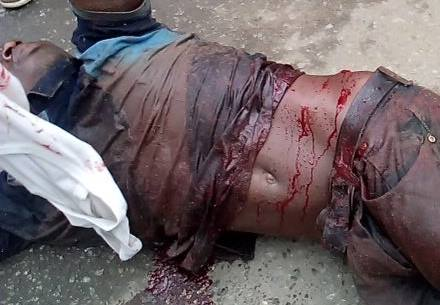 Killed Biafran on the floor