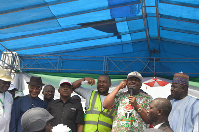 Wike with supporters