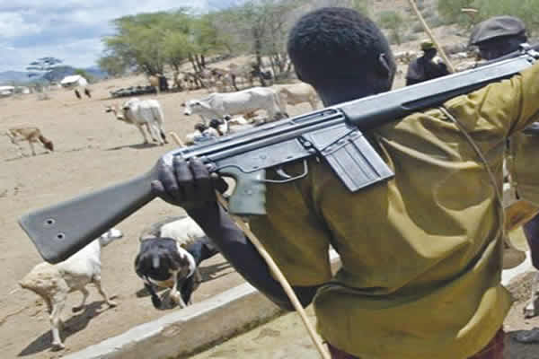 another herdmen boy with rifle