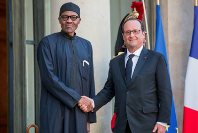 french president with buhari