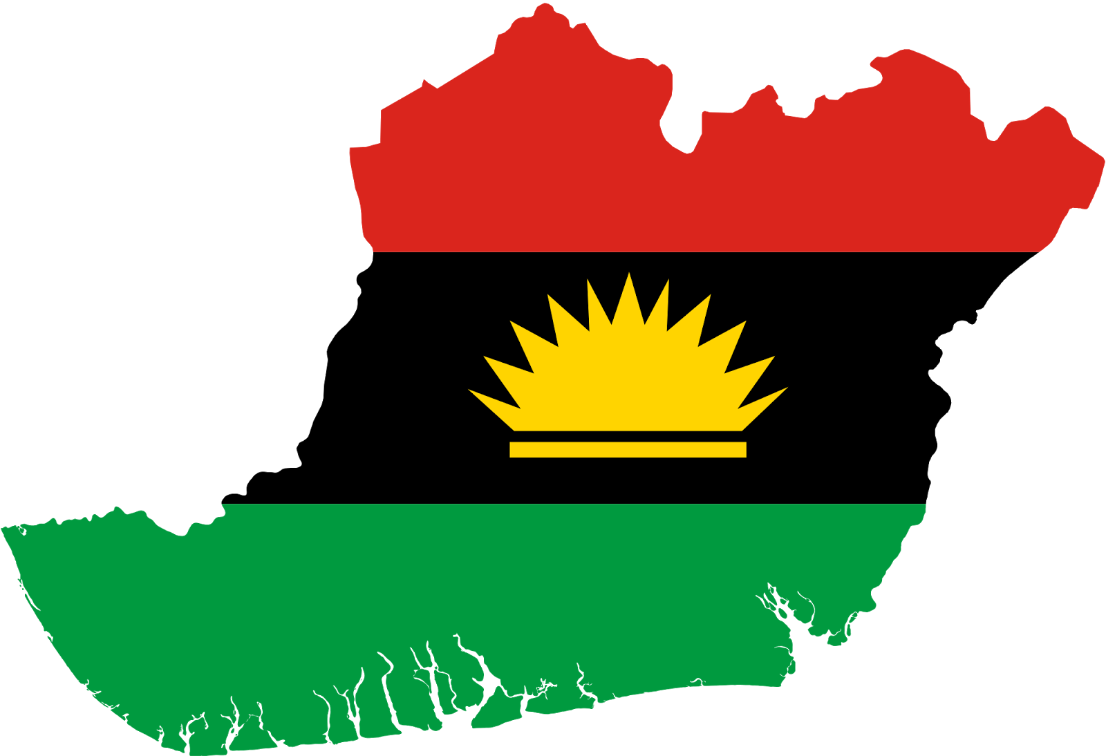 biafra Exit map