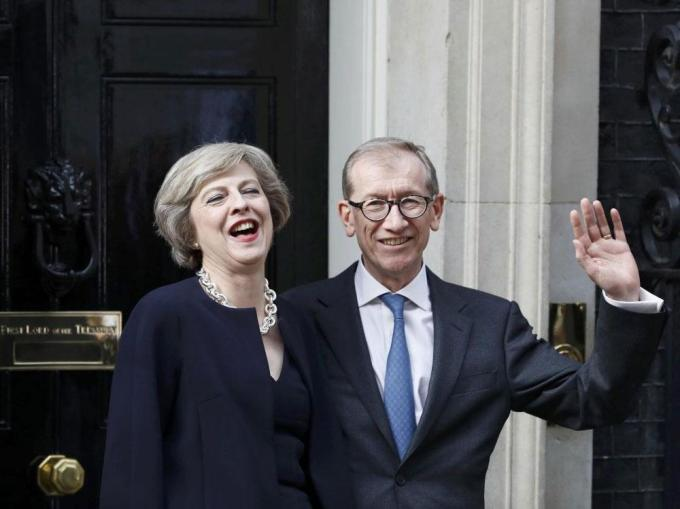 Theresa May with husband