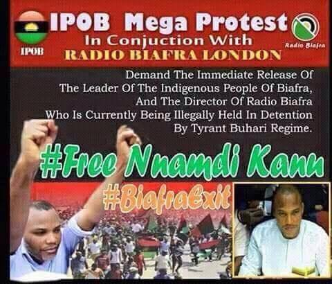 "IPOB Plans Mega Worldwide ""Free Nnamdi Kanu"" Protest – BIAFRA TODAY"